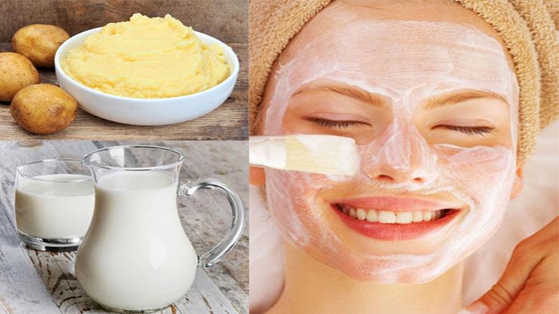 Sữa tươi và khoai tây - sự kết hợp hoàn hảo để loại bỏ mụn đầu đen