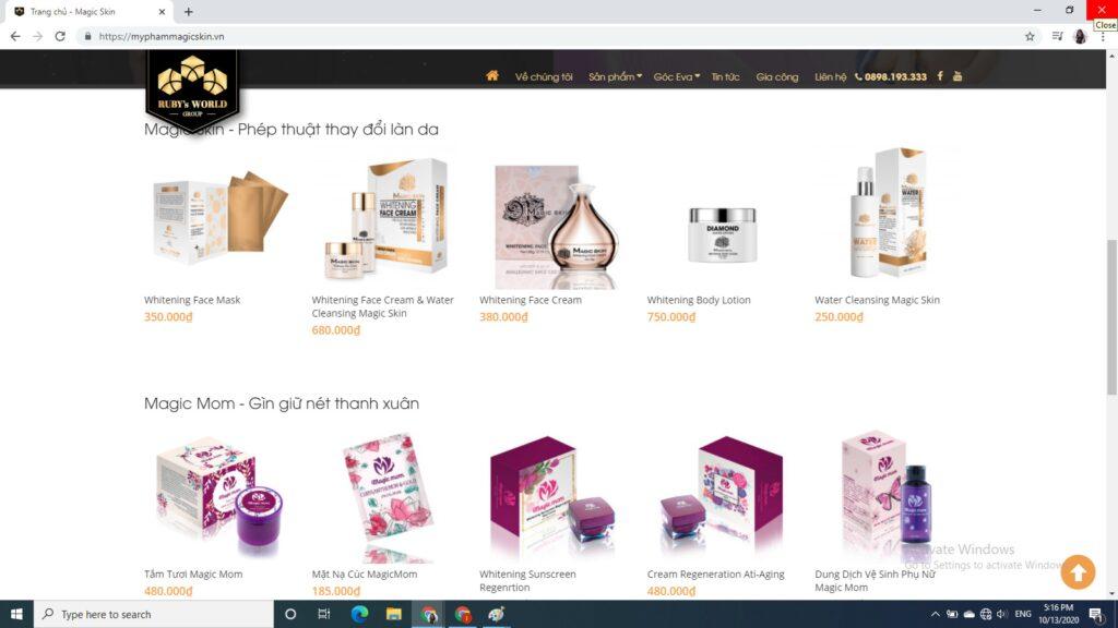 website là kênh bán hàng mỹ phẩm hiệu quả và được nhiều người lựa chọn