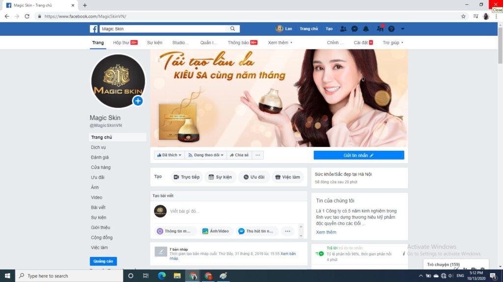 Kênh bán hàng online hiệu quả là Fanpage