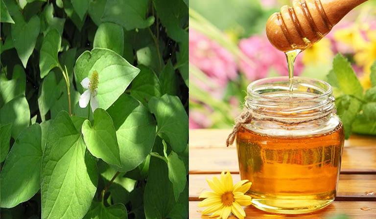 Rau diếp cá và mật ong giúp đẩy nhanh quá trình điều trị mụn