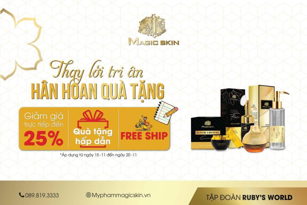 Magic Skin luôn có những chương trình ưu đãi nhân ngày nhà giáo Việt Nam