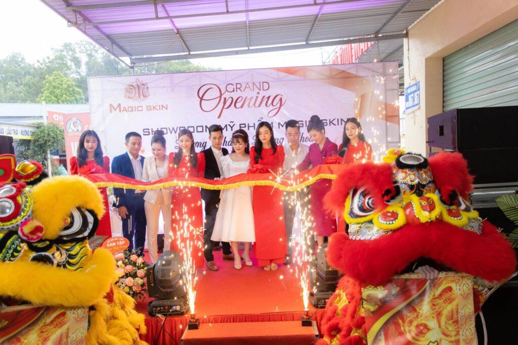 Lễ cắt băng khai trương showroom Magic Skin tại Thái Nguyên
